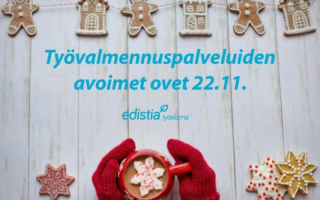 Työvalmennuspalveluiden avoimet ovet 22.11.