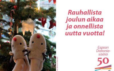 Toivotamme hyvää joulua!