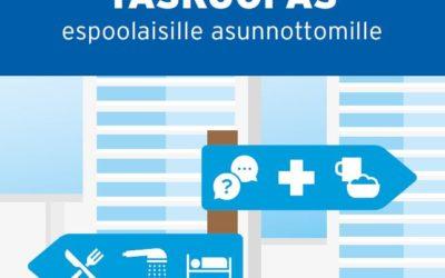 Palveluoppaat espoolaisille asunnottomille ja vähävaraisille on julkaistu